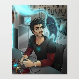 GHOST FRIEND IN THE LAB Canvas Print