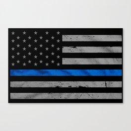 Thin Blue Line Canvas Print