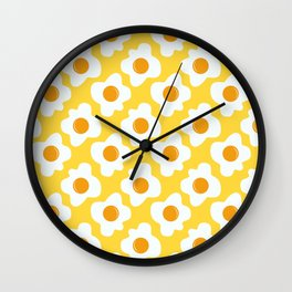 Scrambled eggs Wall Clock