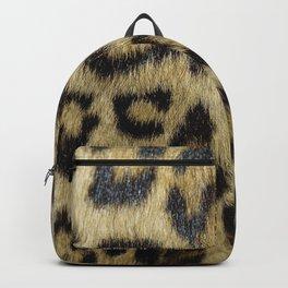 Leopard Fur Backpack