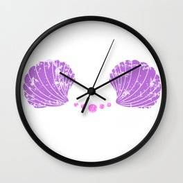 Mermaid Bra Wall Clock