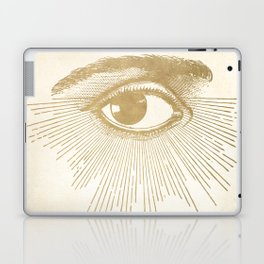 I See You. Vintage Gold Antique Paper Laptop & iPad Skin