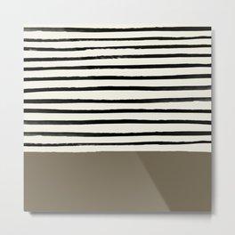 Cappuccino x Stripes Metal Print