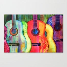 Guitars - Good Wood  Canvas Print