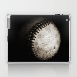 Battered Baseball in Black and White Laptop & iPad Skin