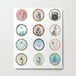 The 12 Signs of the Zodiac Metal Print