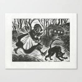 They Called Her Little Red Witch Canvas Print