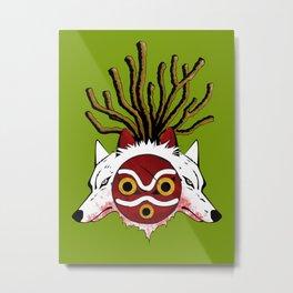 Wolf Princess Metal Print