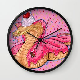 candy cobra with a side of sprinkles Wall Clock