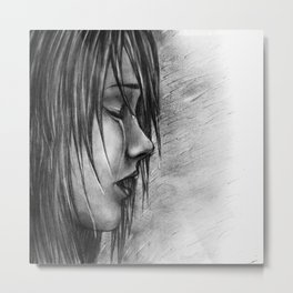 Never Let Them See You Cry Metal Print