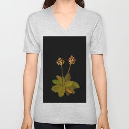 Saxifragia Nivalis Mary Delany Floral Paper Collage Delicate Vintage Flowers Unisex V-Neck
