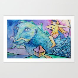 Wind Dragon Art Print