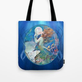 Sensual Art Deco Pearl Mermaid Tote Bag