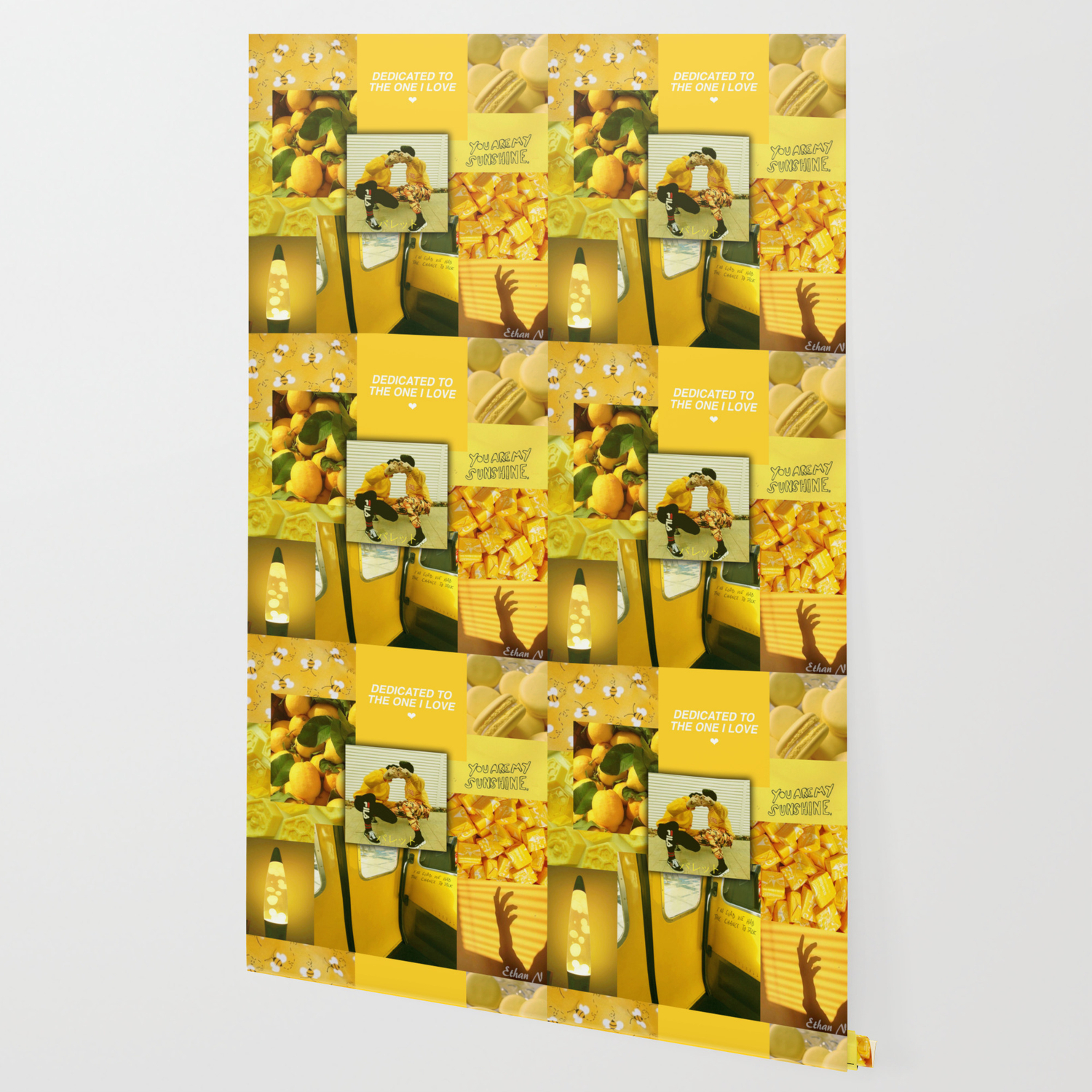 Yellow Love Aesthetic Collage Wallpaper By Ethannguyen2020 Society6
