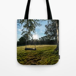 Country Comfort / Tree Swing Tote Bag