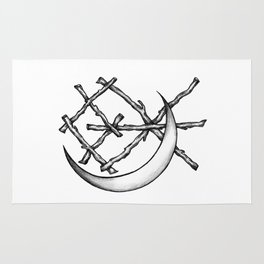 Crescent Moon Rune Binding Rug