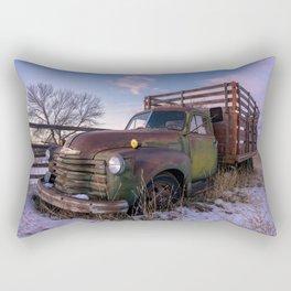 Abandoned Farm Truck Rectangular Pillow