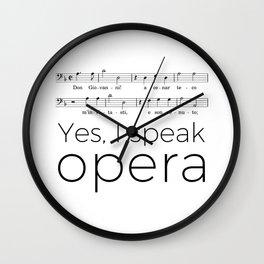 I speak opera (bass) Wall Clock