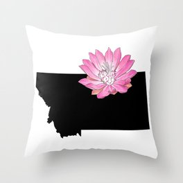 Montana Silhouette Throw Pillow