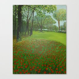"""Red Tulips"" Canvas Print"