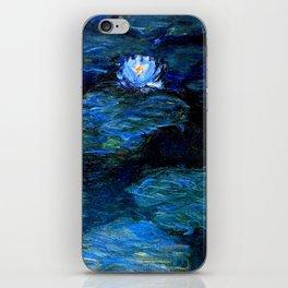 monet water lilies 1899 Blue teal iPhone Skin