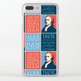 Alexander Hamilton Quotes Clear iPhone Case
