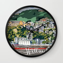 Wellington Harbour, NZ Wall Clock