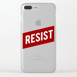 RESIST red white bold anti Trump Clear iPhone Case