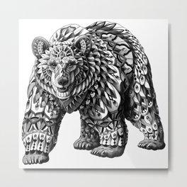 Ornate Bear Metal Print