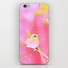 Junco Pink Yellow by CheyAnne Sexton iPhone Skin