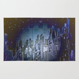 Walls in the Night - UFOs in the Sky Rug