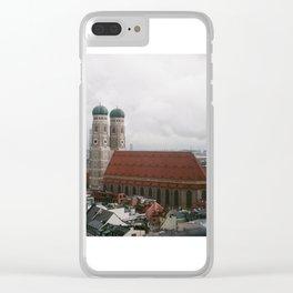 Rainy day in Munich Clear iPhone Case