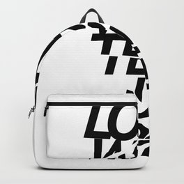 LOVE WILL TEAR US APART #black Backpack