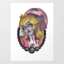 Zombie Peach Art Print