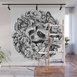 "Summer raccoon. From the series ""Seasons"" Wall Mural"