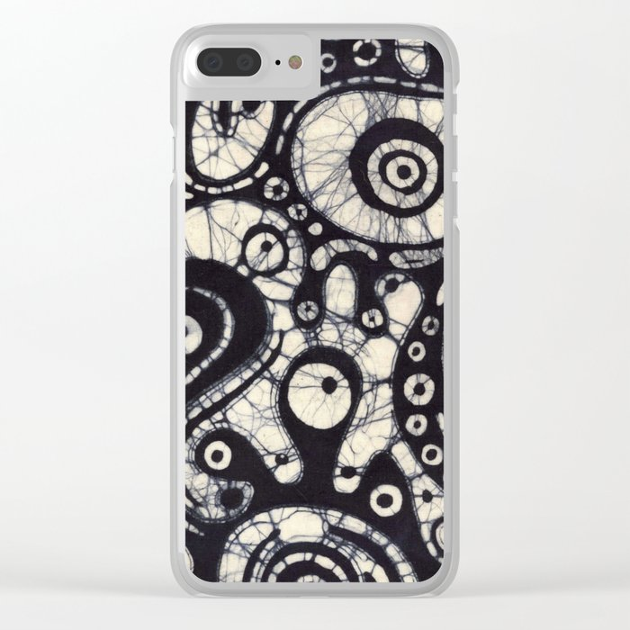 Abstract Batik 2 Clear iPhone Case