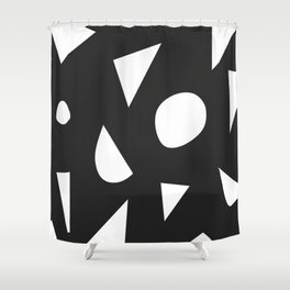 Boom on Black Shower Curtain