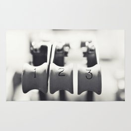 Thrust Levers in Black and White Rug
