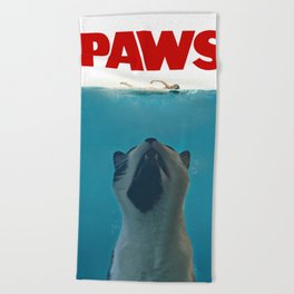 Paws Beach Towel