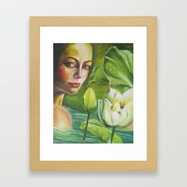 Lotus Woman Framed Art Print
