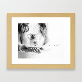 You are my cup of tea postcard Framed Art Print