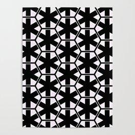 Multi Pattern Black and White Design Poster