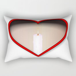 Love Candles Rectangular Pillow