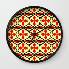 symetric patterns 59 -mandala,geometric,rosace,harmony,star,symmetry Wall Clock