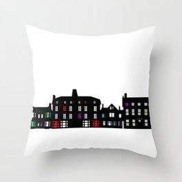 Victorian Facades Throw Pillow