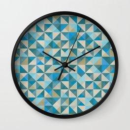Blue Patchwork Quilt Wall Clock