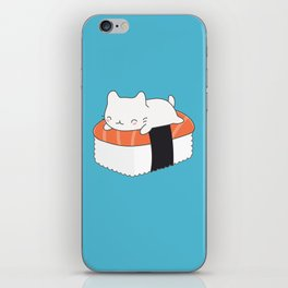 Kawaii Cute Sushi Cat iPhone Skin