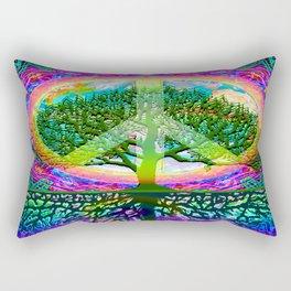Tree of Life Peace Rectangular Pillow