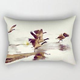 The Take Off - Wild Geese Rectangular Pillow