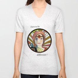 La jeune fille au paon (the peacock maiden) Unisex V-Neck